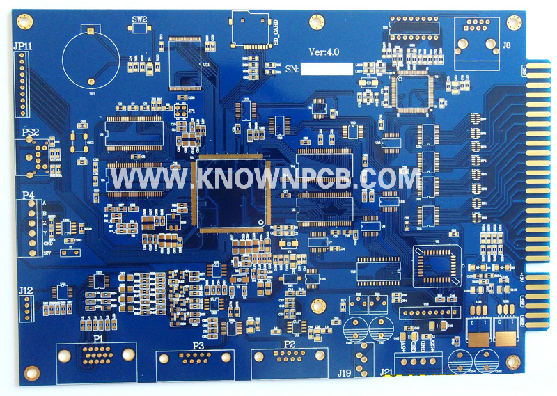 Gold Fingers Board with Blue Solder Mask