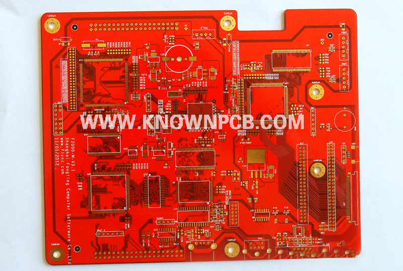 Multilayer board with Red Solder Mask